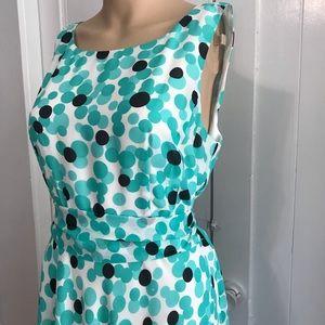 Pendleton Dresses - Pendleton Aqua Polka Dot Swing Dress 12